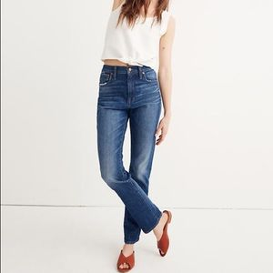 Madewell high rise slim boy jean size 29